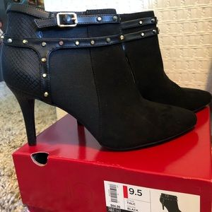 New in box, black booties
